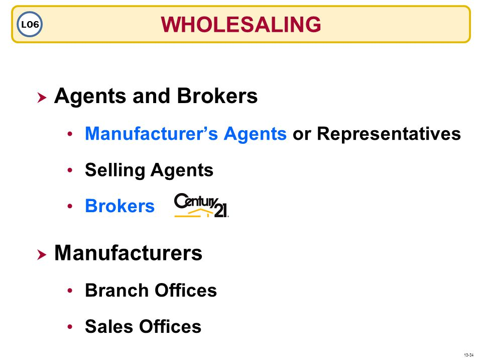 WHOLESALING Agents and Brokers Manufacturers