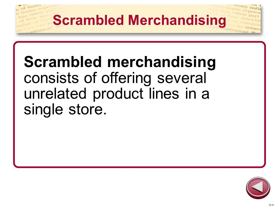 Scrambled Merchandising