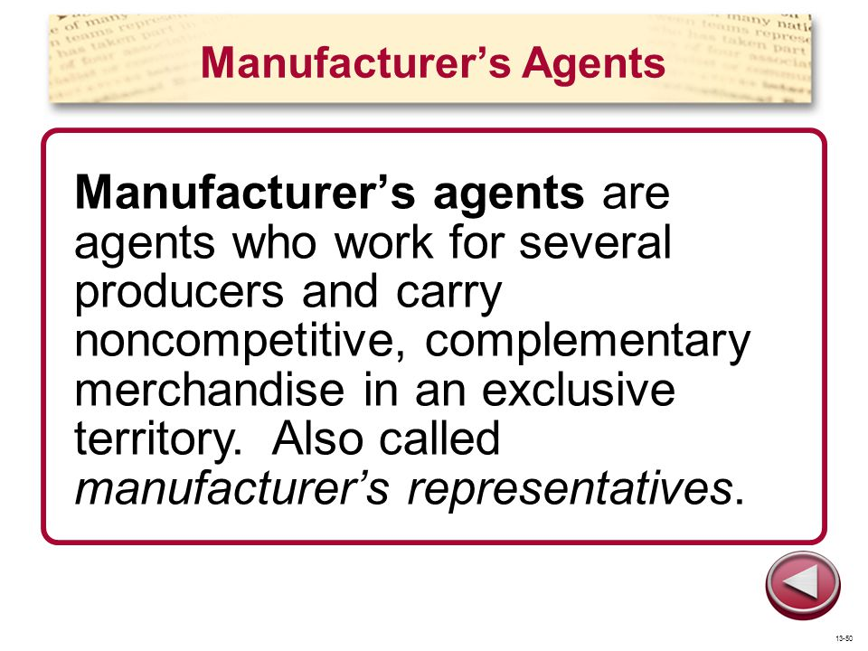 Manufacturer's Agents