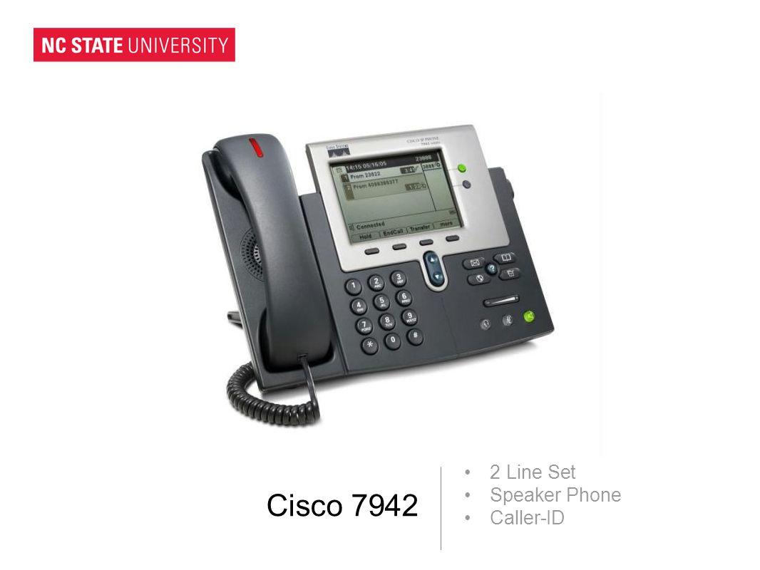 Cisco 7942 2 Line Set Speaker Phone Caller-ID