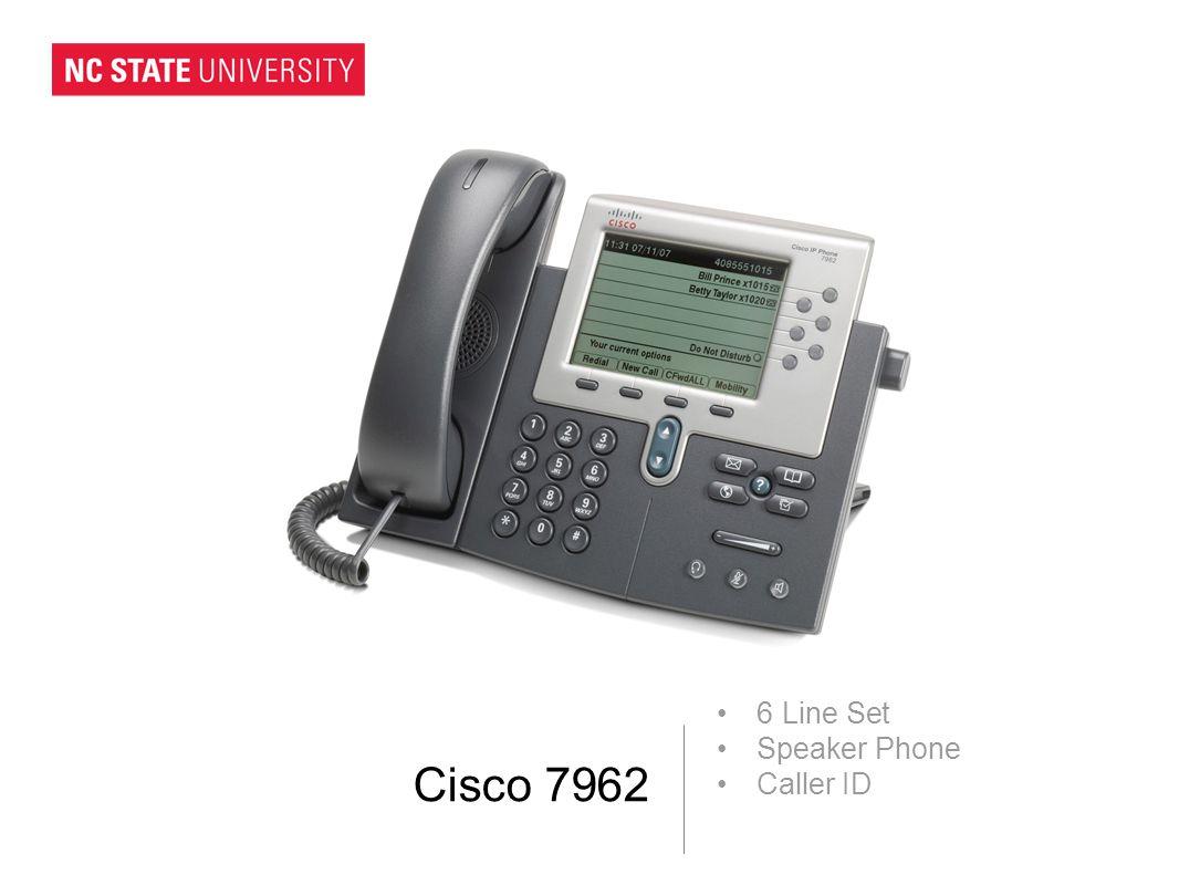 Cisco 7962 6 Line Set Speaker Phone Caller ID
