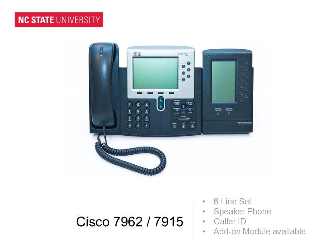 Cisco 7962 / 7915 6 Line Set Speaker Phone Caller ID