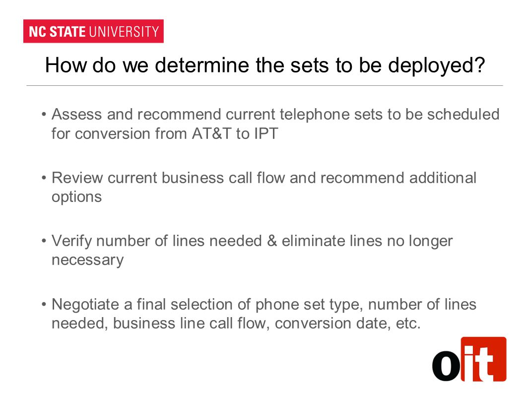 How do we determine the sets to be deployed