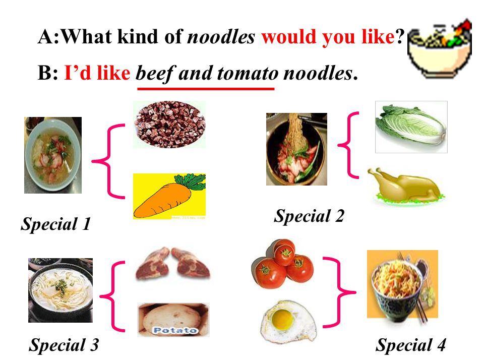 A:What kind of noodles would you like