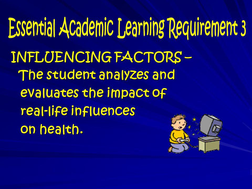 Essential Academic Learning Requirement 3