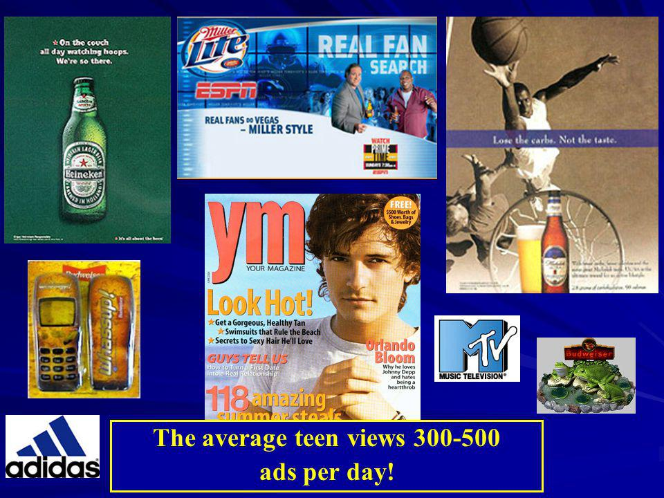 The average teen views 300-500