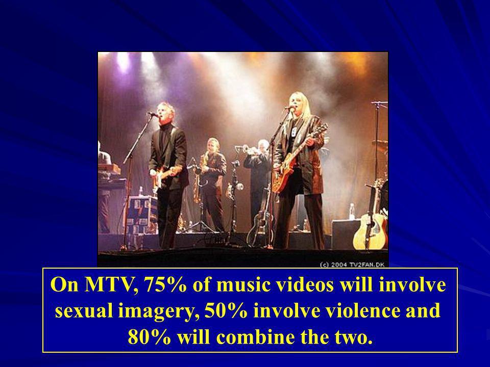 On MTV, 75% of music videos will involve