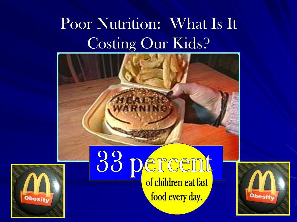 Poor Nutrition: What Is It Costing Our Kids