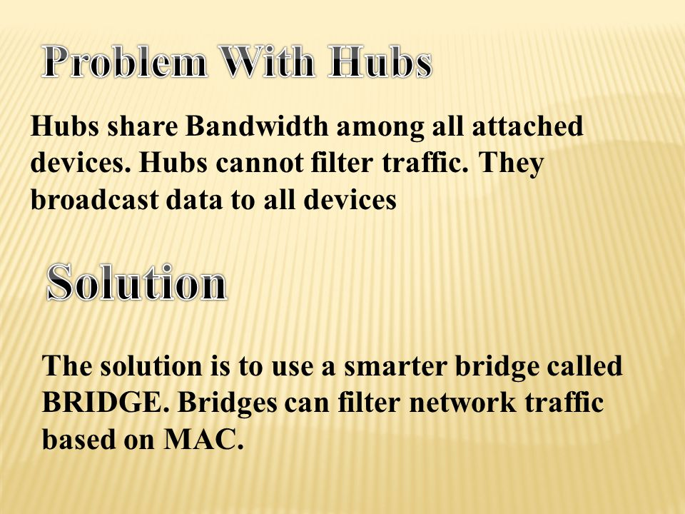 Solution Problem With Hubs