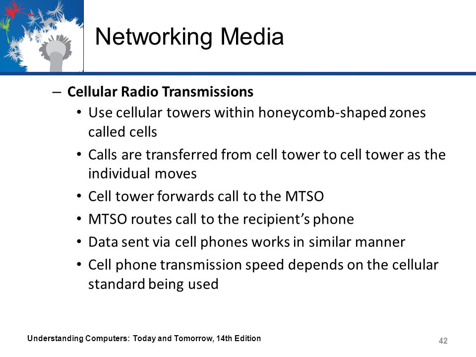 Networking Media Cellular Radio Transmissions