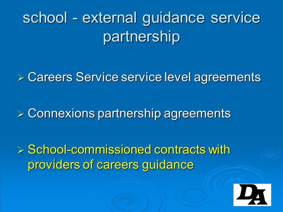 school - external guidance service partnership