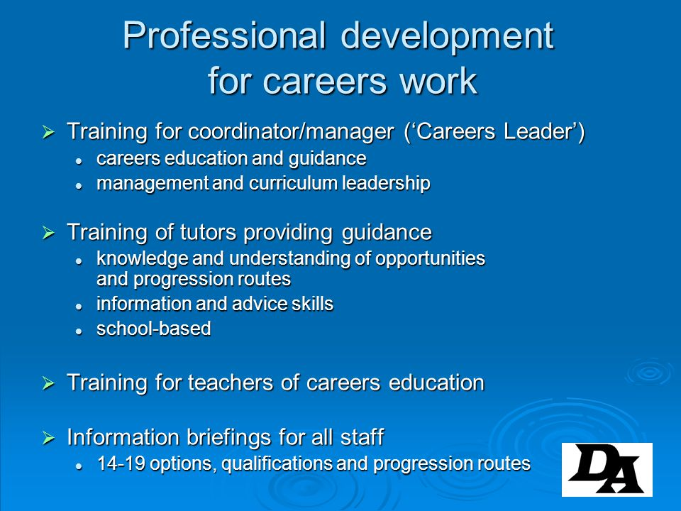 Professional development for careers work