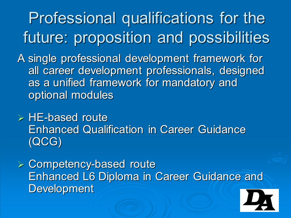 Professional qualifications for the future: proposition and possibilities