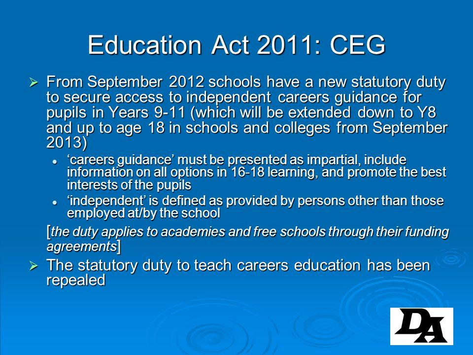 Education Act 2011: CEG