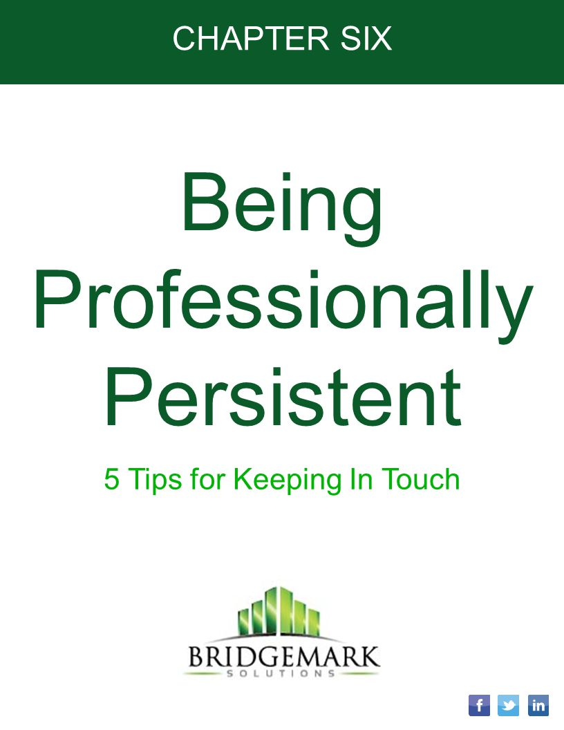 Being Professionally Persistent