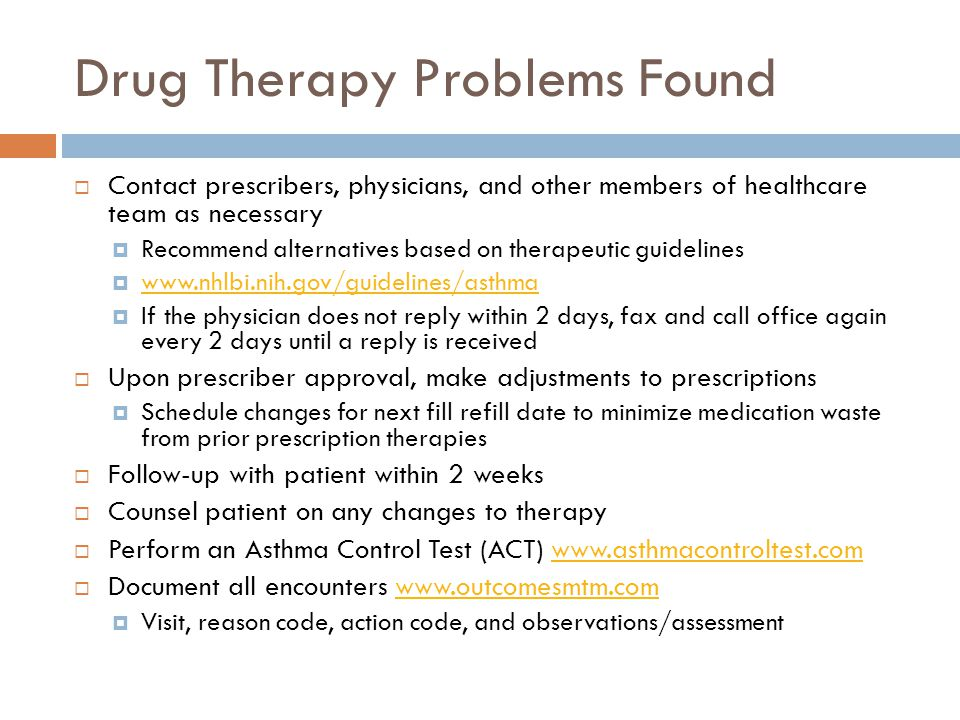 Drug Therapy Problems Found