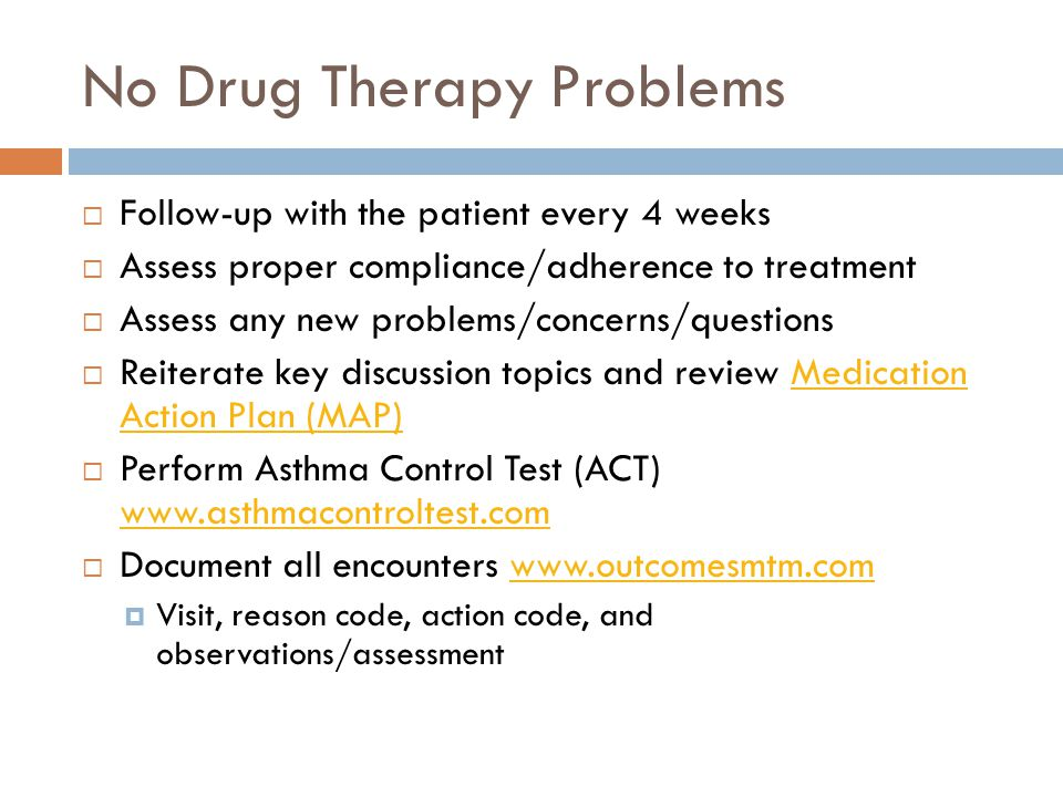 No Drug Therapy Problems