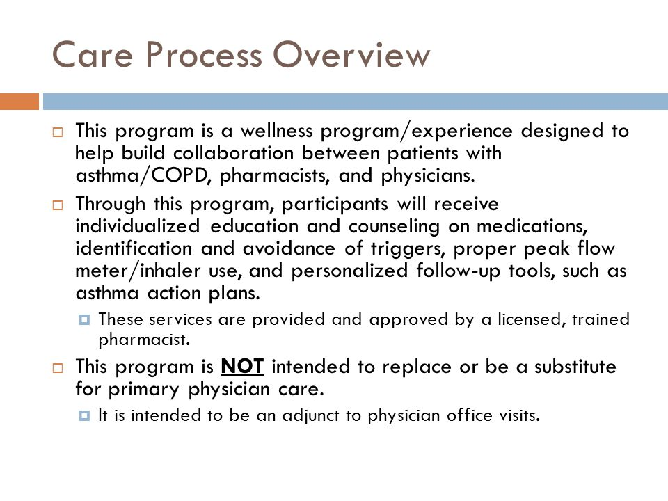Care Process Overview