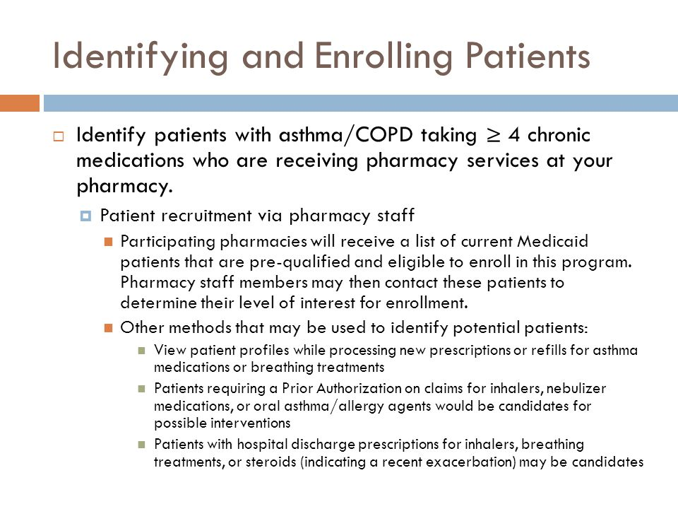 Identifying and Enrolling Patients