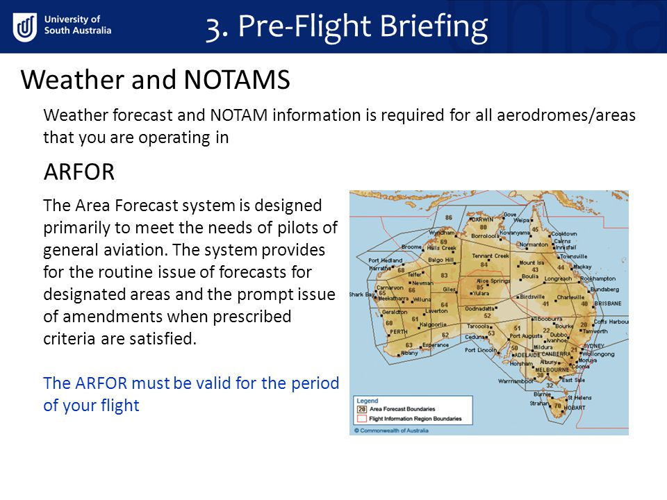 3. Pre-Flight Briefing Weather and NOTAMS ARFOR