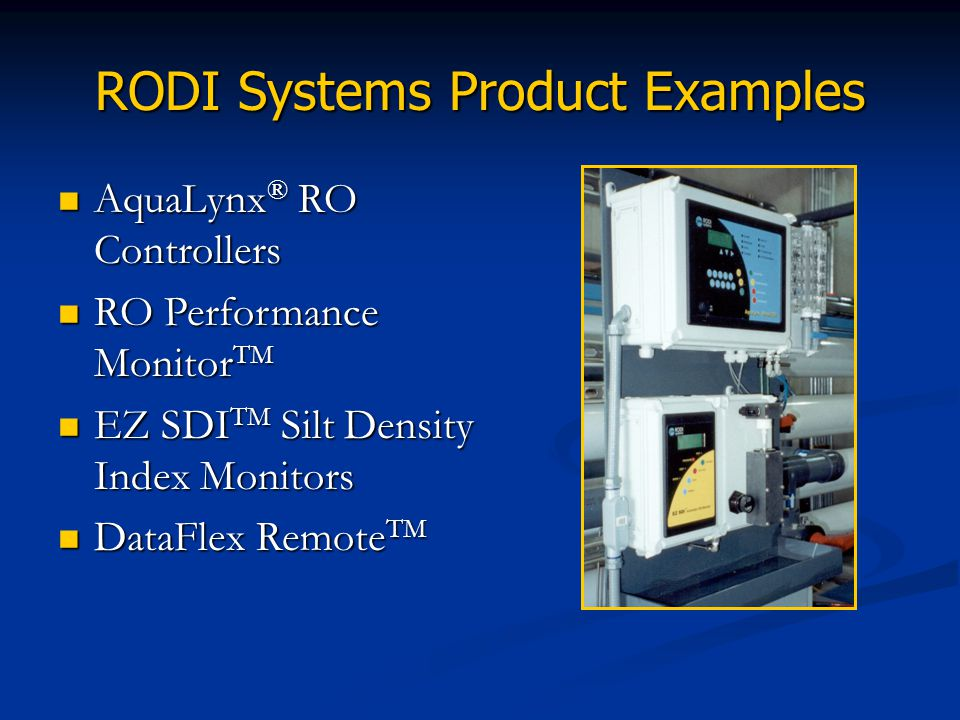 RODI Systems Product Examples