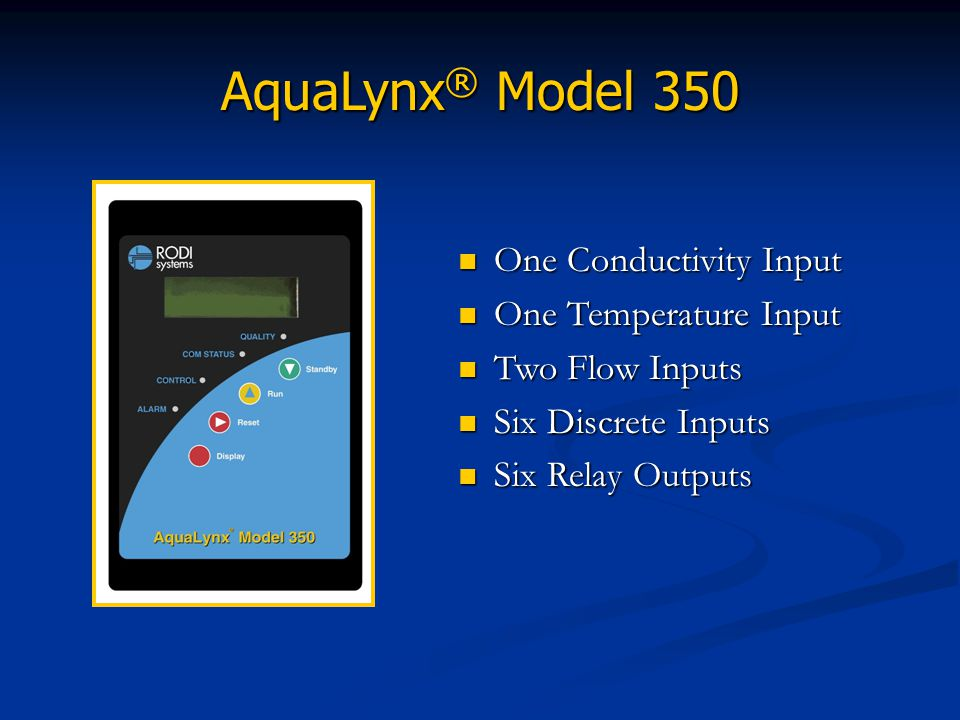 AquaLynx® Model 350 One Conductivity Input One Temperature Input