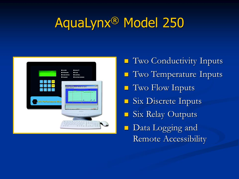 AquaLynx® Model 250 Two Conductivity Inputs Two Temperature Inputs