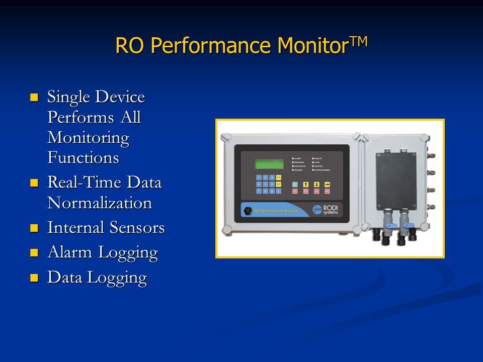 RO Performance MonitorTM