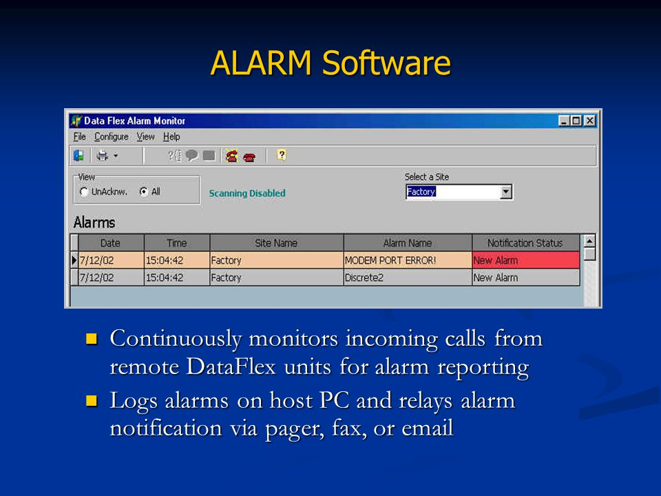 ALARM Software
