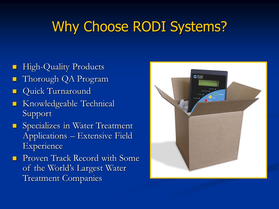 Why Choose RODI Systems