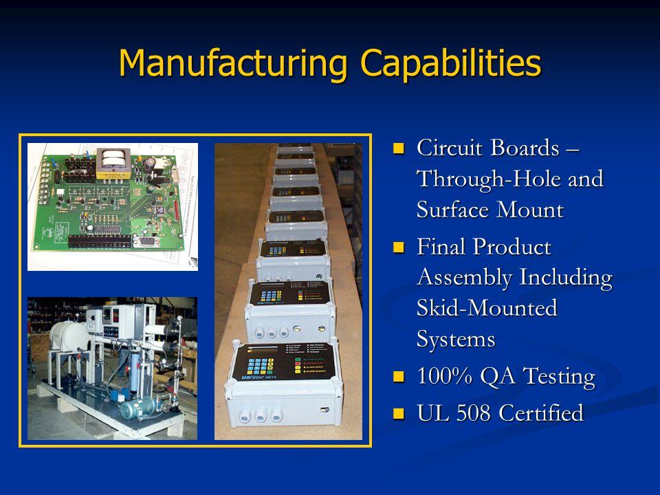 Manufacturing Capabilities