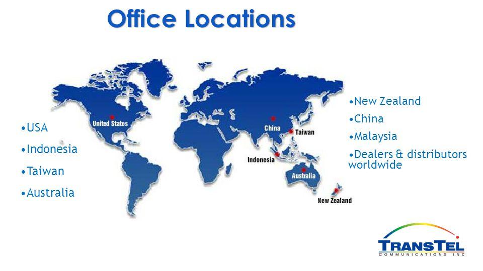 Office Locations USA Indonesia Taiwan Australia New Zealand China