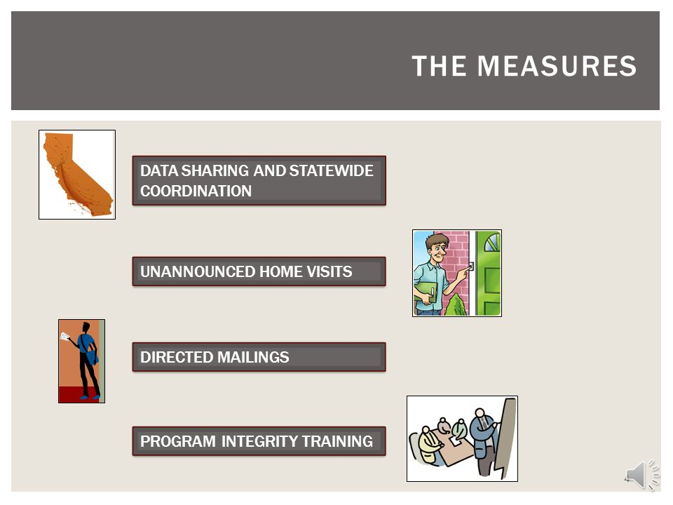 The measures DATA SHARING AND STATEWIDE COORDINATION