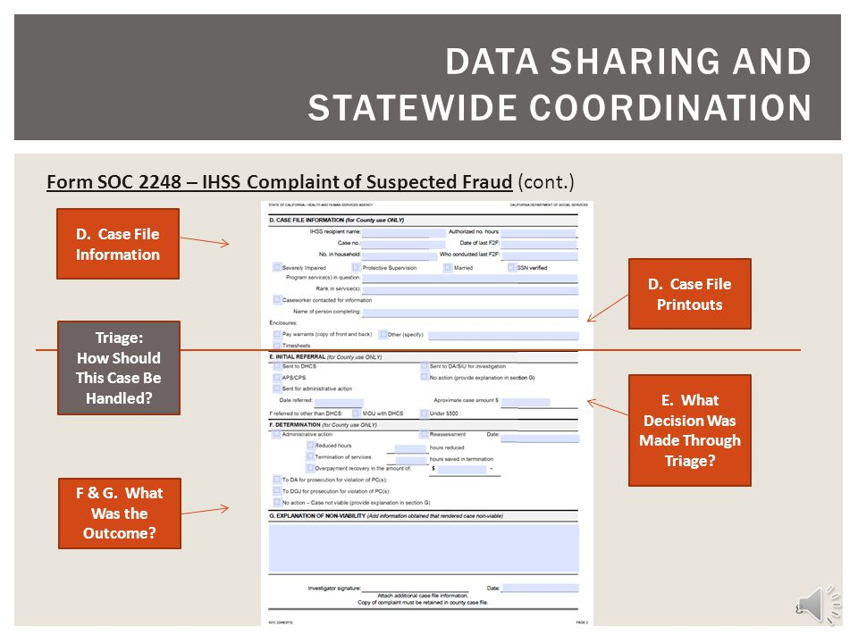 DATA SHARING AND STATEWIDE COORDINATION