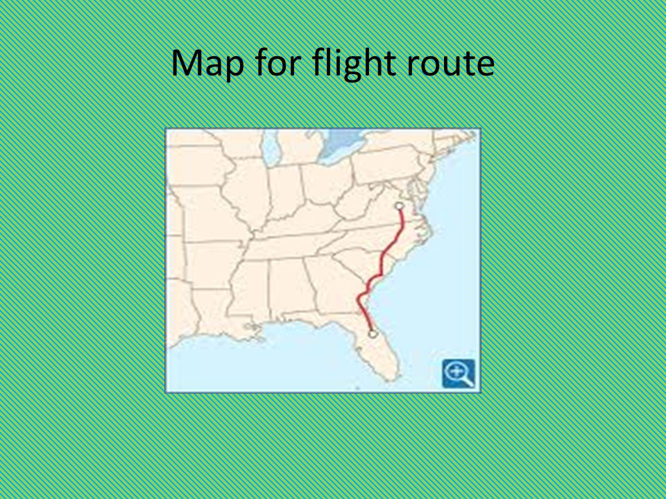 Map for flight route