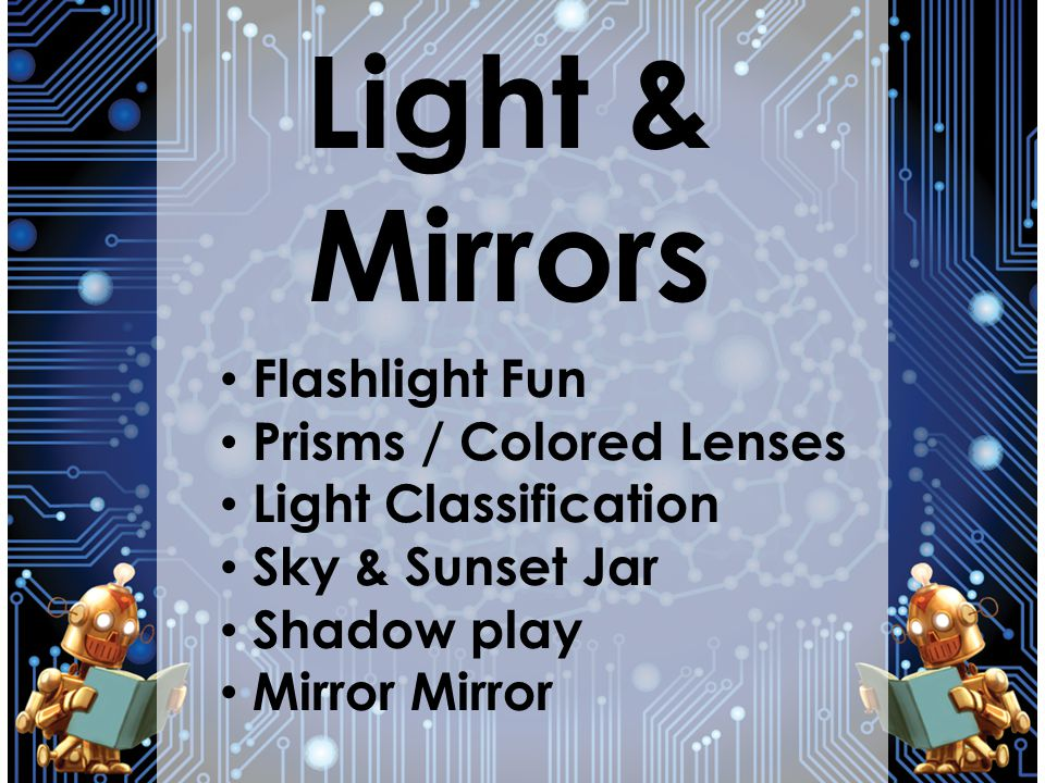 Light & Mirrors Flashlight Fun Prisms / Colored Lenses