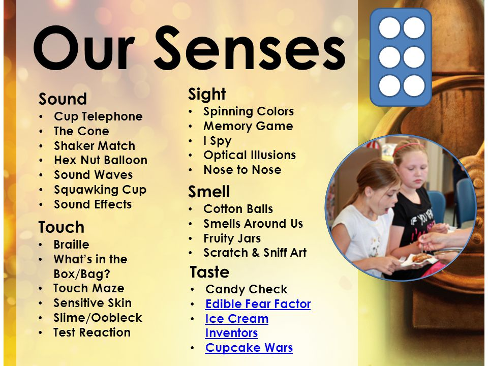Our Senses Sight Sound Smell Touch Taste Spinning Colors Cup Telephone