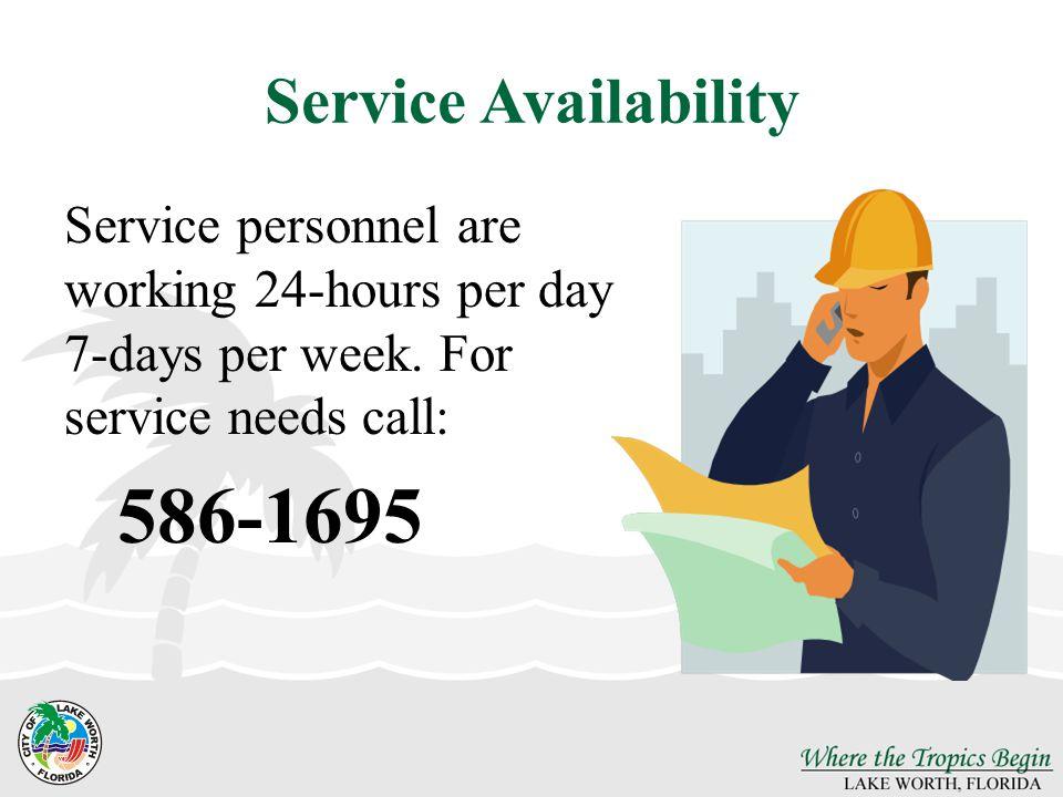 586-1695 Service Availability
