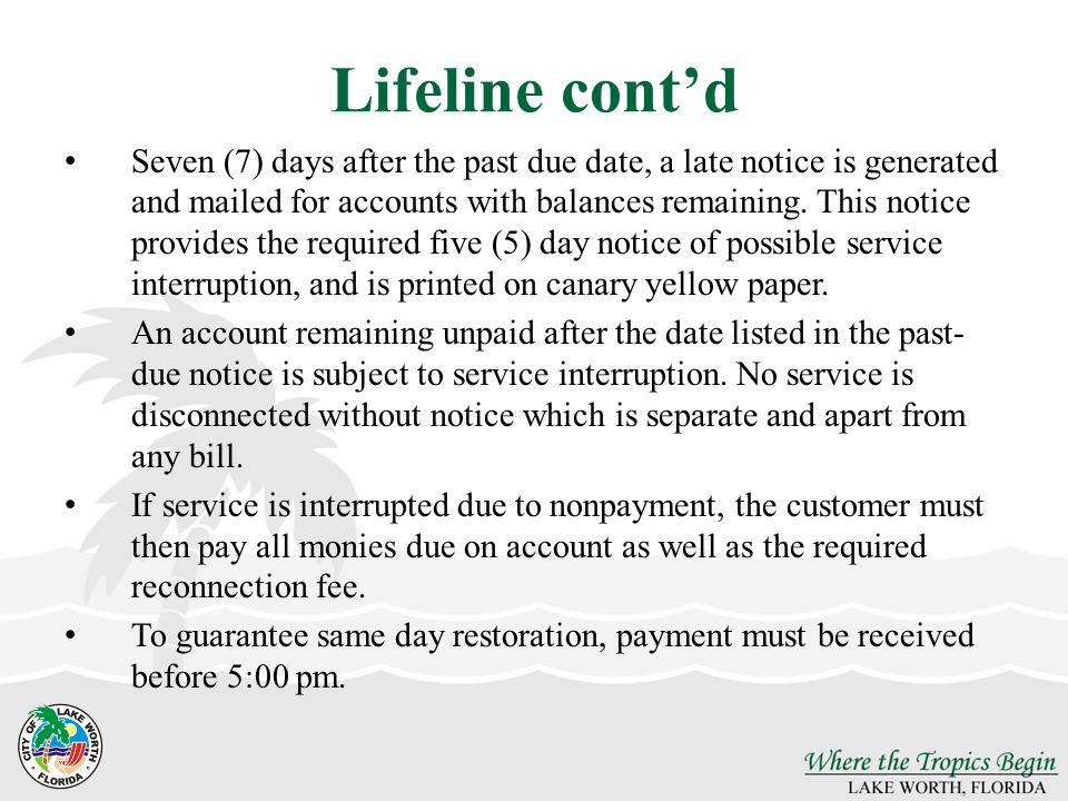Lifeline cont'd