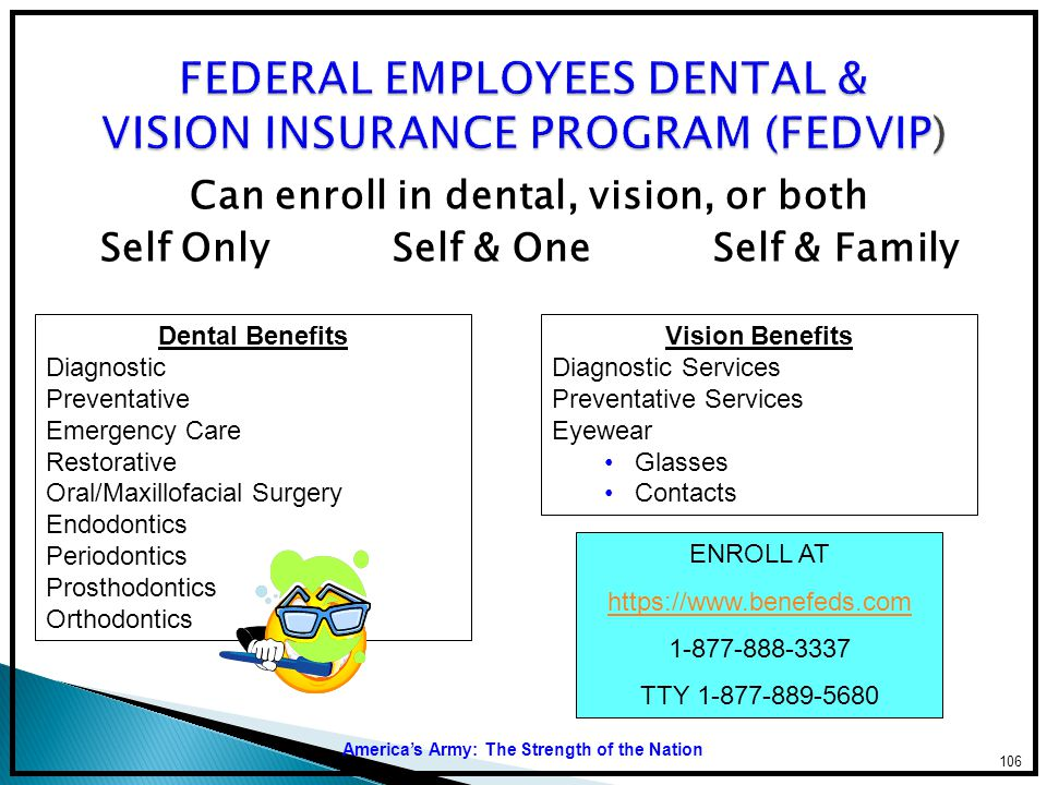 FEDERAL EMPLOYEES DENTAL & VISION INSURANCE PROGRAM (FEDVIP)