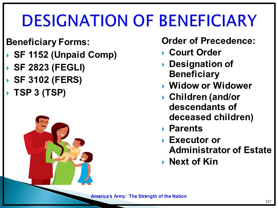 DESIGNATION OF BENEFICIARY