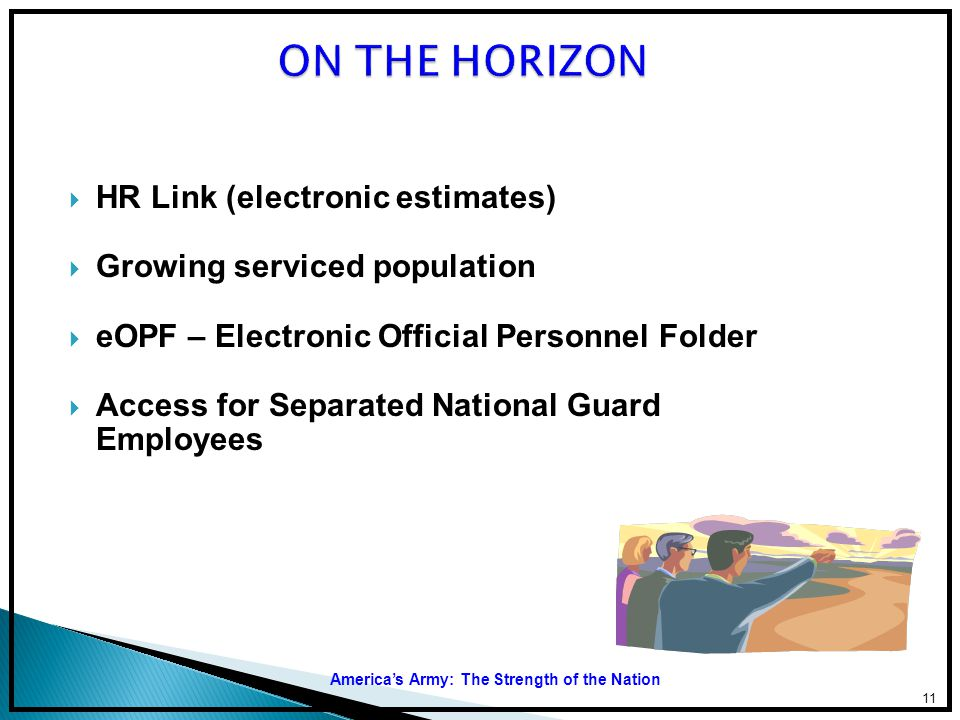 ON THE HORIZON HR Link (electronic estimates)