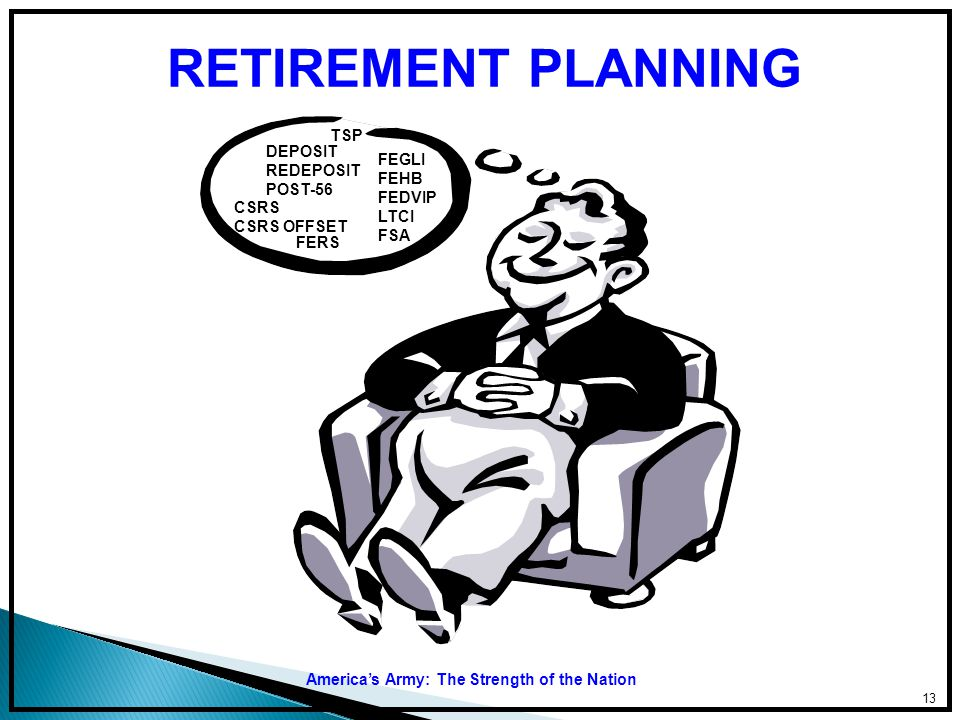 RETIREMENT PLANNING FEHB TSP DEPOSIT REDEPOSIT FEGLI POST-56 FEHB