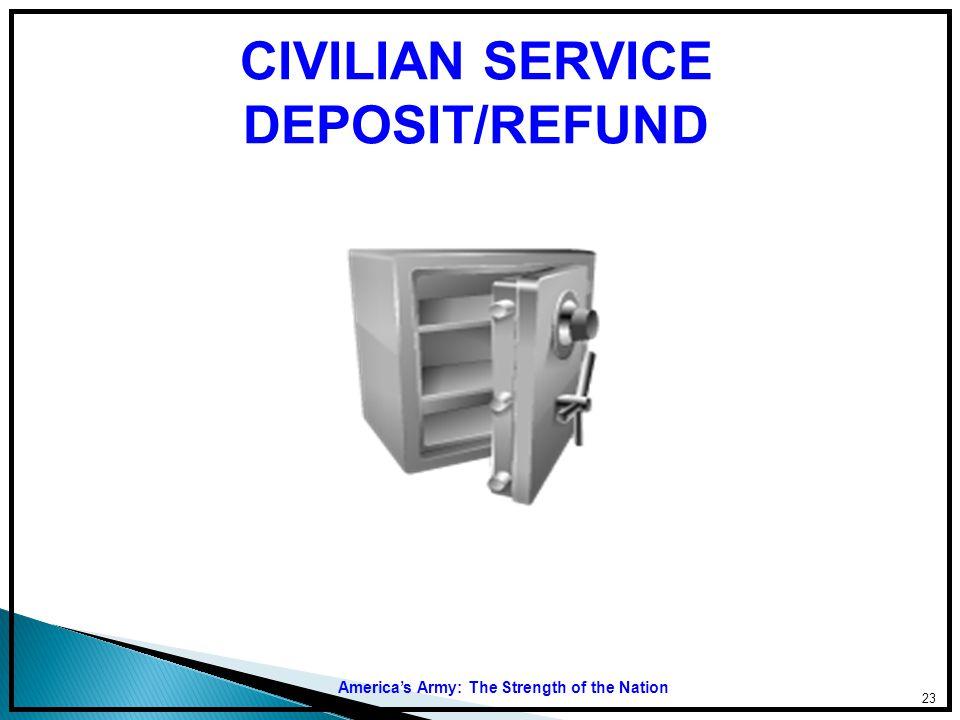 CIVILIAN SERVICE DEPOSIT/REFUND