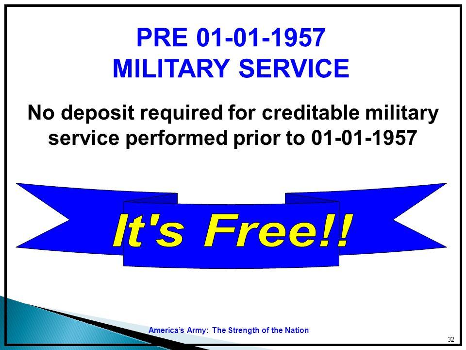 PRE 01-01-1957 MILITARY SERVICE