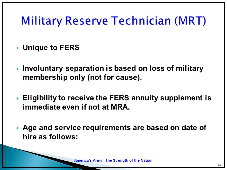 Military Reserve Technician (MRT)
