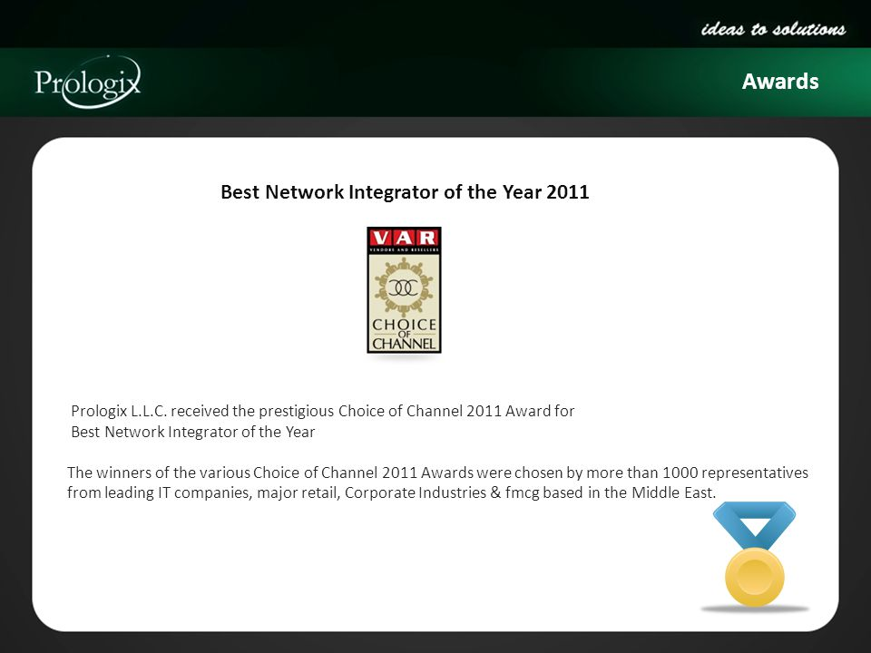 Awards Best Network Integrator of the Year 2011