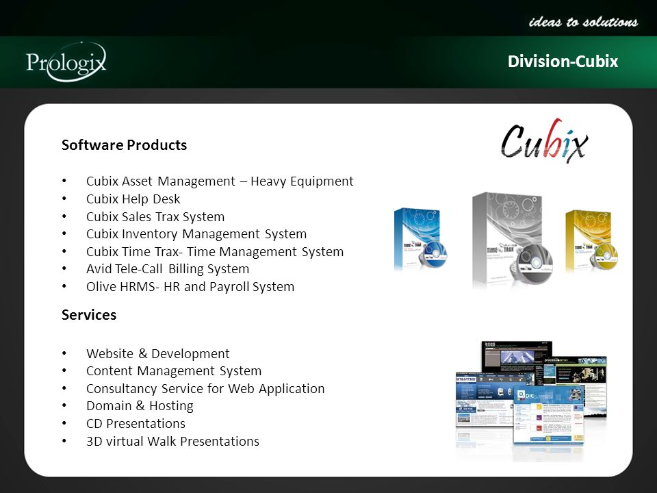 Division-Cubix Software Products Services