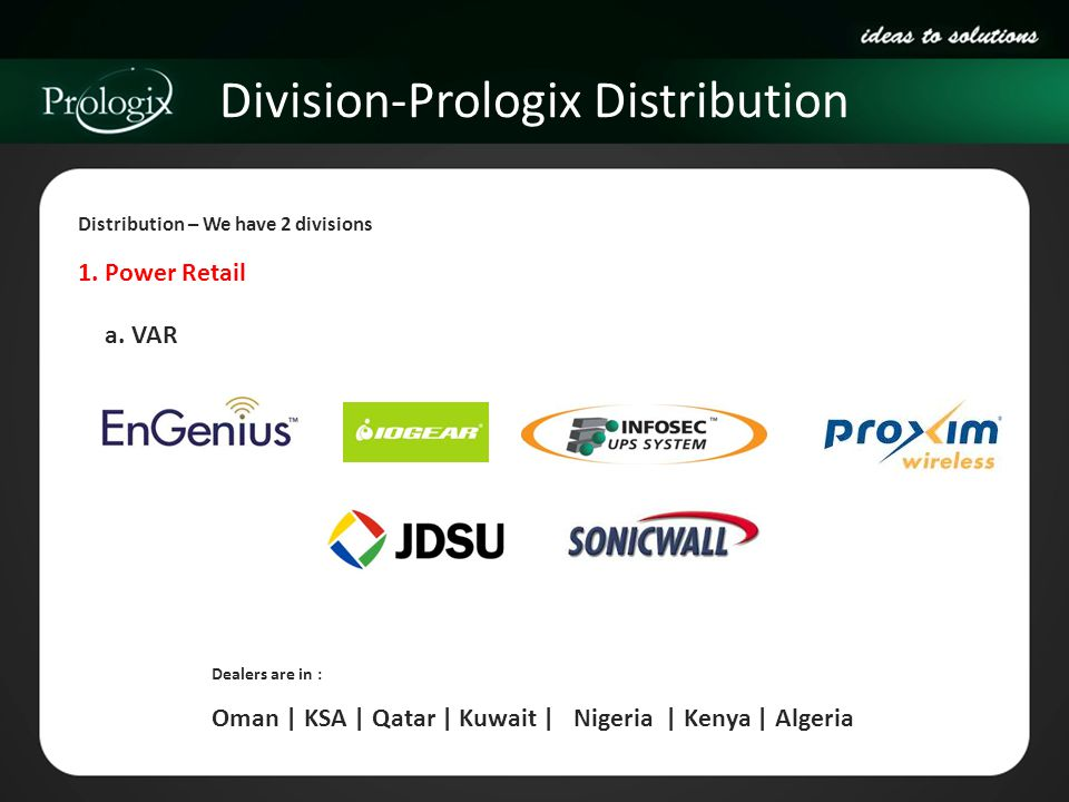 Division-Prologix Distribution