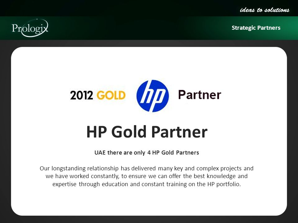 UAE there are only 4 HP Gold Partners